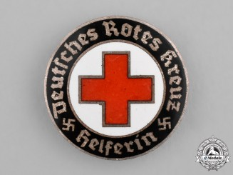 Germany. A German Red Cross Nurse's Aid Badge, by Deschler & Sohn