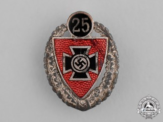 Germany. A 25-Year Long Veteran's Association Membership Badge, by C.E. Juncker