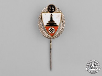 Germany. A 25-Year Long Kyfhäuser Veterans Association Membership Stick Pin
