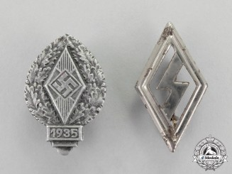 Germany. Two Youth Badges and Pins