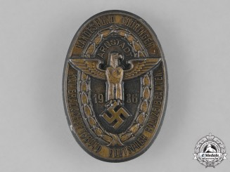 Germany, Third Reich. A 1936 League of German Police Officials Rally in Thüringen Badge