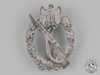 Germany, Heer. A Wehrmacht Heer (Army) Infantry Assault Badge, Silver Grade, c. 1943