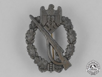 Germany, Heer. A Wehrmacht Heer (Army) Infantry Assault Badge, Silver Grade, c. 1942