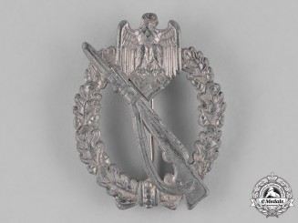 Germany, Heer. An Infantry Assault Badge, Silver Grade, by Richard Simm & Söhne