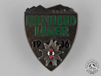 Germany, HJ. A Hochland Training Camp Badge