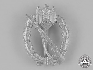 Germany, Heer. A Wehrmacht Heer (Army) Infantry Assault Badge, Silver Grade, by Sohni Heubach