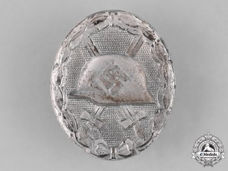 Germany, Wehrmacht. A Wound Badge, Silver Grade, by Carl Wild, c. 1943