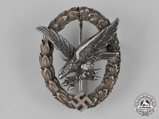 Germany, Luftwaffe. A Luftwaffe Radio Operator & Air Gunner Badge, by C. E. Juncker