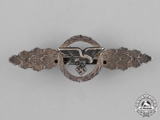 Germany. A Luftwaffe Front Flying Clasp for Transport Pilots, Silver Grade
