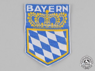 Germany, Weimar. A Bayern (Bavaria) Regional Coat of Arms Veterans Sleeve Patch