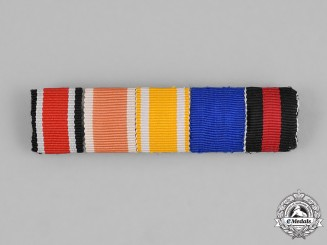 Germany, Wehrmacht. A Third Reich Period Wehrmacht Medal Ribbon Bar