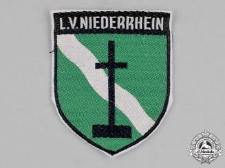 Germany, Weimar. A Niederrhein (Lower Rhine) Regional Coat of Arms Veterans Sleeve Patch