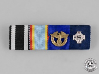 Germany, Wehrmacht. A First and Second War Medal Ribbon Bar