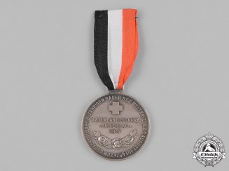 Germany, DRK. A 1917 Imperial German Red Cross (DRK) 3-Year First War Commemorative Medal