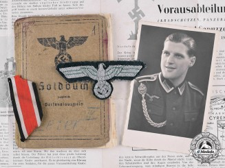 Germany, Wehrmacht. A Grouping of Documents and Insignia to Tank Destroyer DAK Veteran, KIA