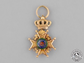 Hanover, Kingdom. A Miniature Royal Guelphic Order, c.1870
