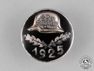 Germany, Weimar. A 1925 Stahlhelm Membership Badge