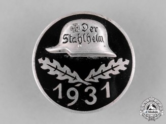 Germany, Weimar. A 1931 Stahlhelm Membership Badge
