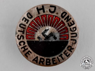 Germany, HJ. A HJ League of German Worker Youth Membership Badge, by Wilhelm Kolwitz