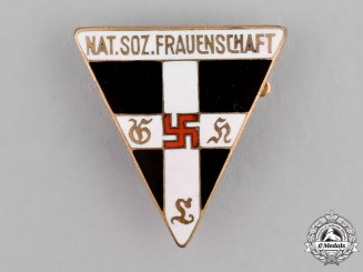 Germany, Third Reich. A National Socialist Women's League Badge, by Otto Fechler