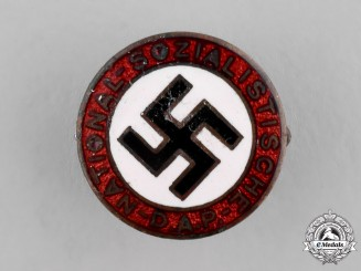 Germany, NSDAP.  An Early Membership Badge, by Steinhauer and Lück of Lüdenscheid