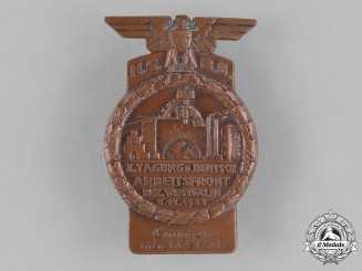 Germany, NSBO. A National Socialist Factory Cell Organization Westphalia Rally Badge