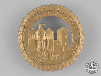 Austria, Third Reich. A 1944 Gold Tirol Shooting Competition Badge