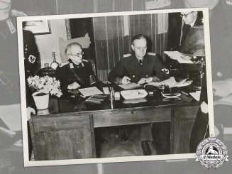 Germany, NSDAP. A Period US Press Photo Of Treaty Of Slovakia Becoming German Protectorate, 1939