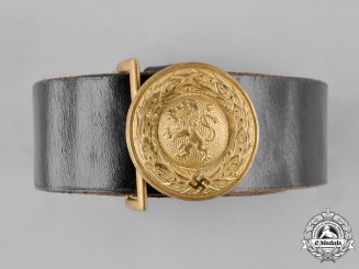Germany, Weimar Republic. A Bavaria State Forestry Official's Service Belt and Buckle