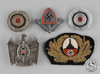 Germany. A Grouping of Third Reich Period Organization Cap Badges