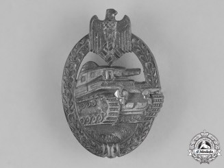 Germany, Heer. A Wehrmacht Heer (Army) Panzer Assault Badge, in Silver, c. 1942