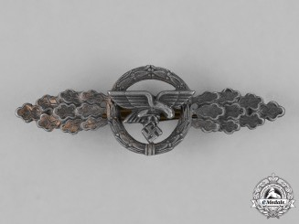 Germany, Luftwaffe. A Luftwaffe Front Flying Clasp for Transport Pilots, Gold Grade