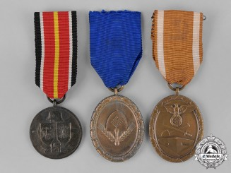 Germany, Third Reich. Three Third Reich German Medals, Awards, and Decorations