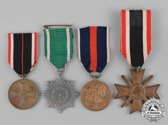 Germany, Heer. Four Wehrmacht Heer (Army) Medals, Awards, and Decorations