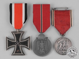 Germany, Heer. Three Wehrmacht Heer (Army) Medals, Awards, and Decorations