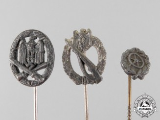 Germany. Three Miniature Stick Pin Awards