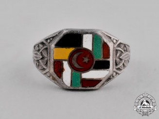 Turkey, Ottoman Empire. A First War Central Powers Silver Ring