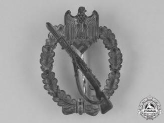 Germany, Wehrmacht. An Infantry Assault Badge, Silver Grade, by Deschler & Sohn