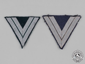 Germany, Wehrmacht. A Grouping of Wehrmacht Rank Chevrons