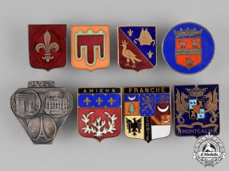 France, Republic. Forty-Nine Regional and Civic Souvenir Badges