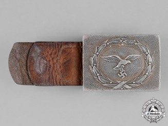 Germany, Luftwaffe. A Standard Issue EM/NCO's Belt Buckle, by Franz Reischauer, c. 1938