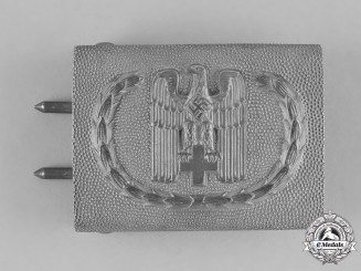 Germany, DRK. A Standard Issue EM/NCO's Belt Buckle, by Overhoff & Cie