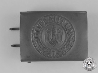 Germany, Heer. A Wehrmacht Heer (Army) Standard Issue EM/NCO's Belt Buckle, c. 1944