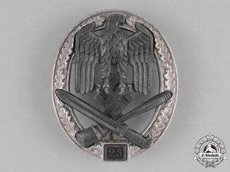 "Germany. A General Assault Badge, Special Grade ""25"", by Josef Feix & Söhne"