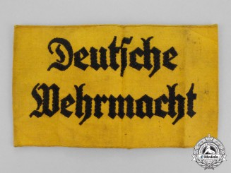 Germany. A Deutsche Wehrmacht Volunteer Assistant Armband