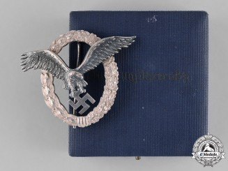 Germany, Luftwaffe. A Pilot's Badge, by C. E. Juncker, Named, c.1937