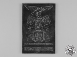 Germany, Luftwaffe. A Luftwaffe Honour Plaque of Field Air Division XXX