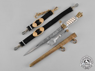 Germany, Kriegsmarine. A Naval Officer's Dagger and Hangers, by Paul Weyersberg & Co