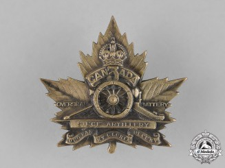 Canada. A 3rd Overseas Siege Battery Cap Badge