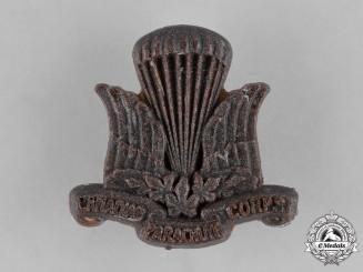 Canada. A Parachute Corps Cap Badge, c.1941